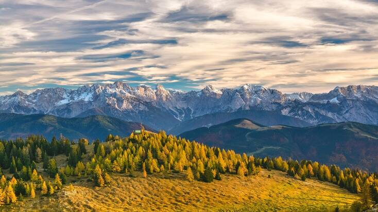A view over the Austrian Alps
