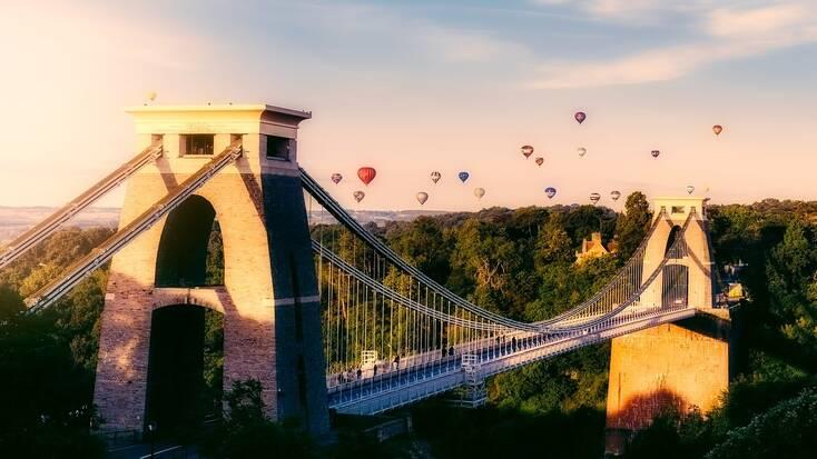 The Clifton Suspension Bridge in Bristol