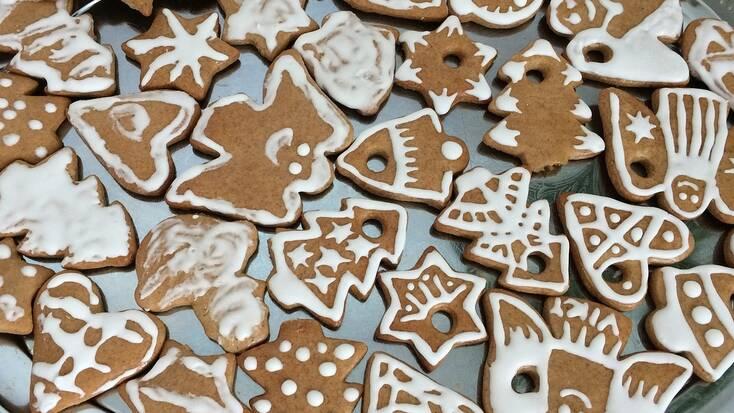 homemade gingerbread snacks