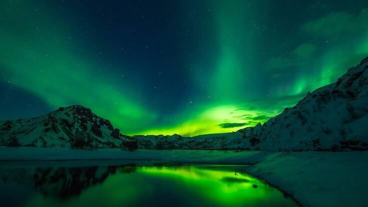The Aurora Borealis in Iceland