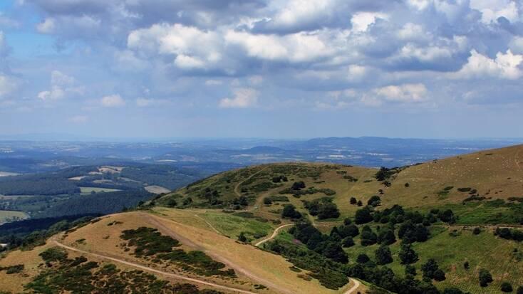 The Malvern Hills in the Midlands