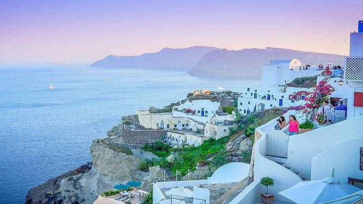 Spend the bank holiday in Santorini