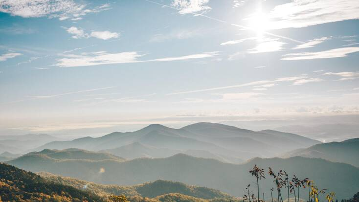 A view over the Blue Ridge Mountains, NC