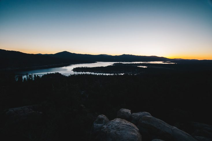 Big Bear Lake at sunset