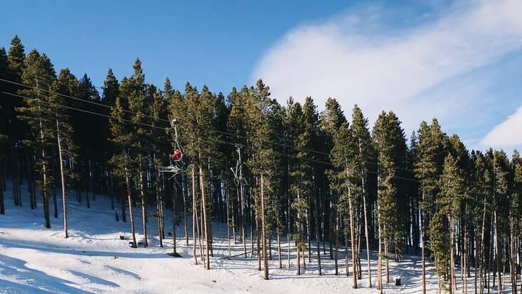 A ski lift in Breckenridge, CO
