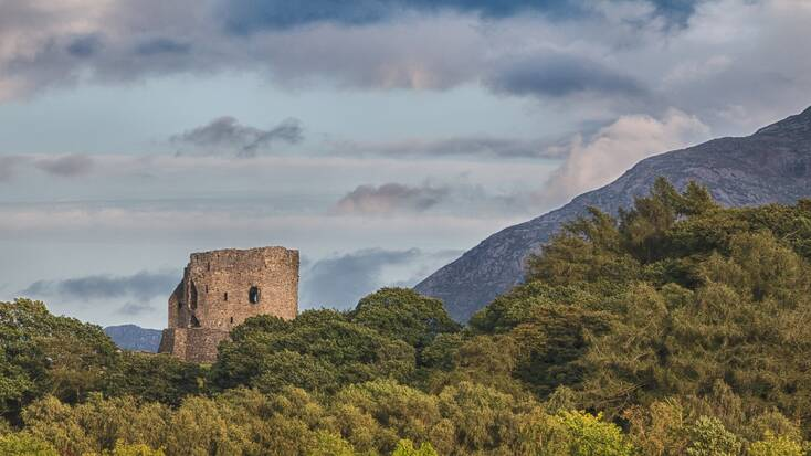 Dolbadarn Castle in Llanberis, Wales