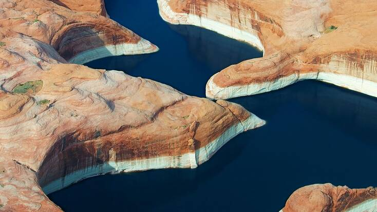 A view over Lake Powell, one of the Planet of the Apes movie locations