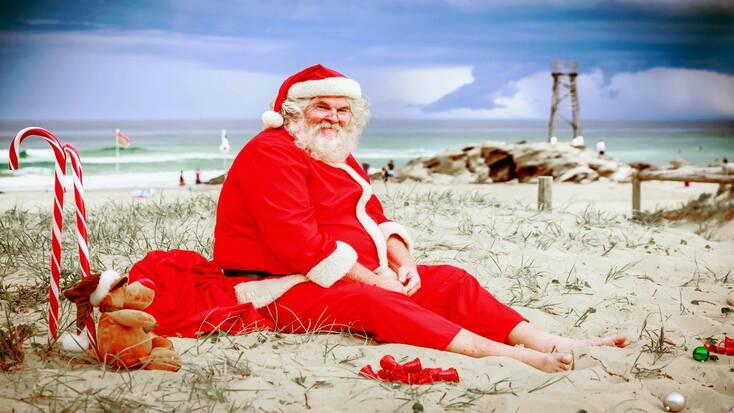 Santa Claus on Christmas vacations