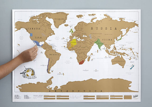 Buy a scratch map for your sister