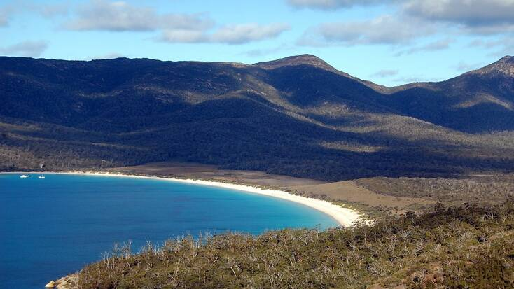 A view over Wineglass Bay, Tasmania
