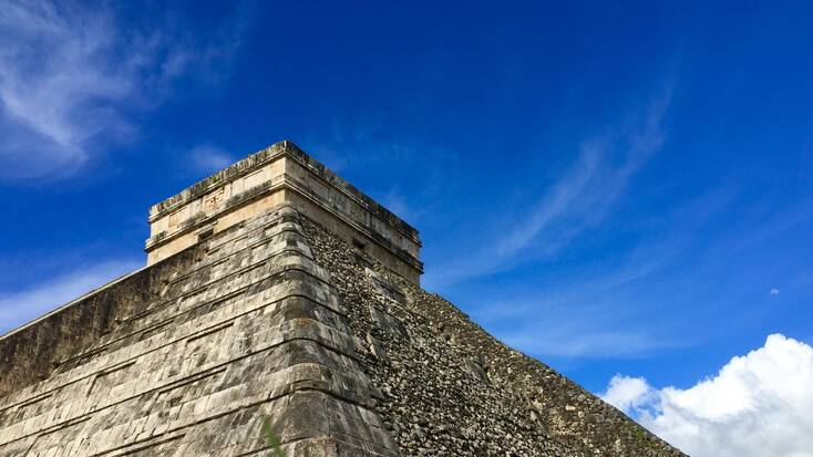 Mayan temples in Mexico at Chichén Itzá, Cancun.