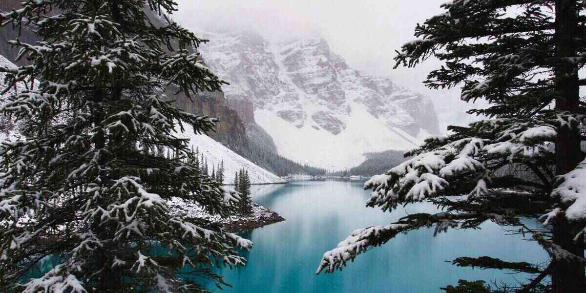A lake in Canada in winter