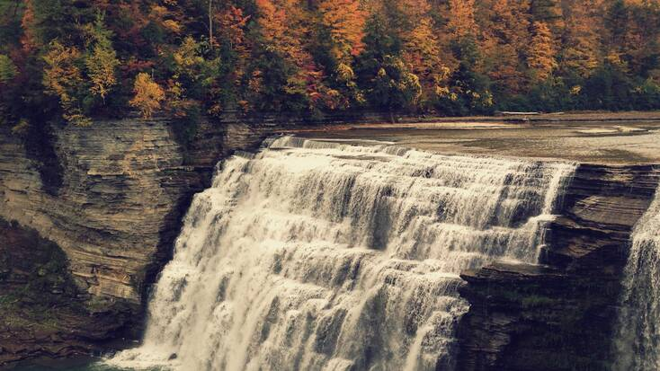 A waterfall in Letchworth State Park