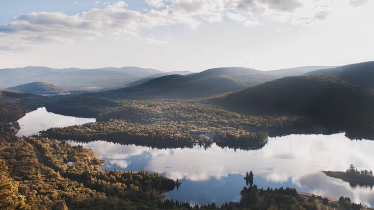 A view over the Mont Tremblant National Park
