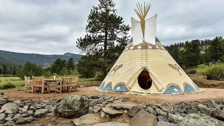 Tipi rental near Lake George, Colorado