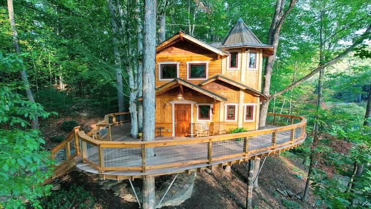 tree house rental in north carolina
