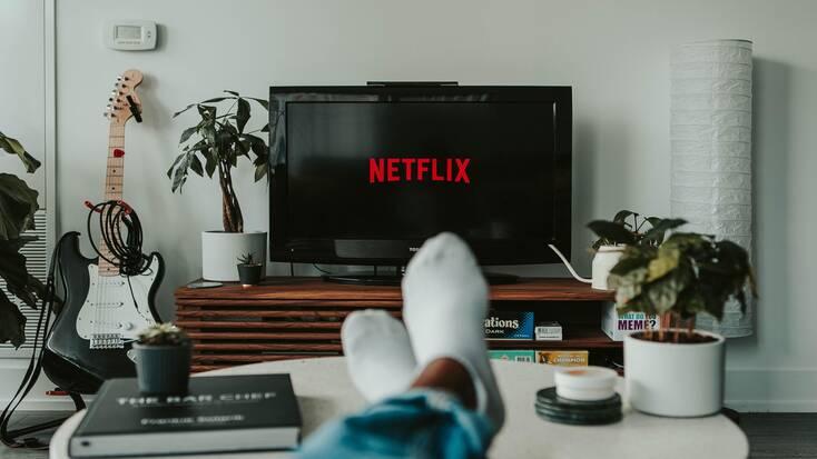 Someone watching a Netflix series
