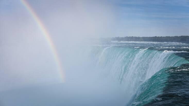 A rainbow over Niagara Falls