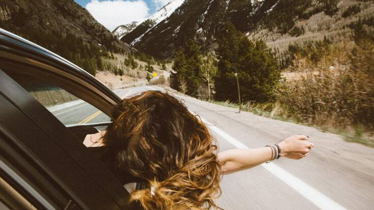 A traveler On the Road trip of a lifetime
