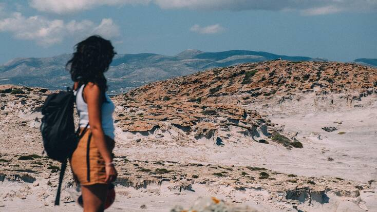 A woman experiencing solo travel