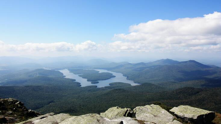 A view of Lake Placid in the Adirondacks