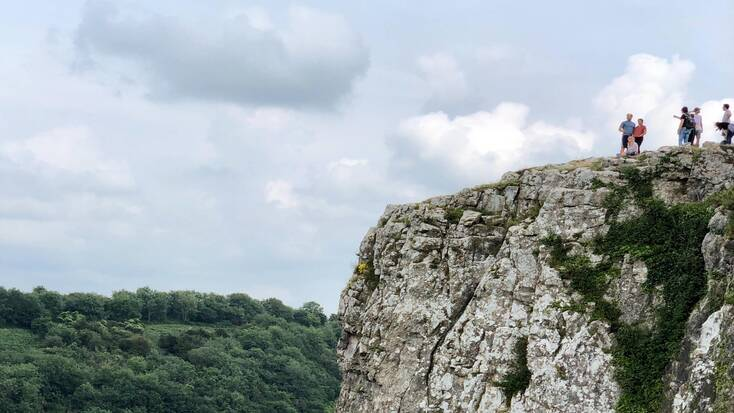 People on top of Cheddar Gorge
