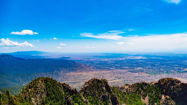 A view of Albuquerque from the Cibola National Forest