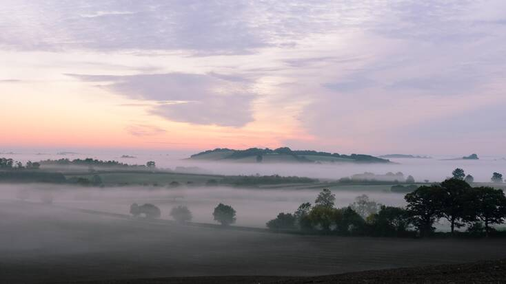 The Cotswolds at sunrise