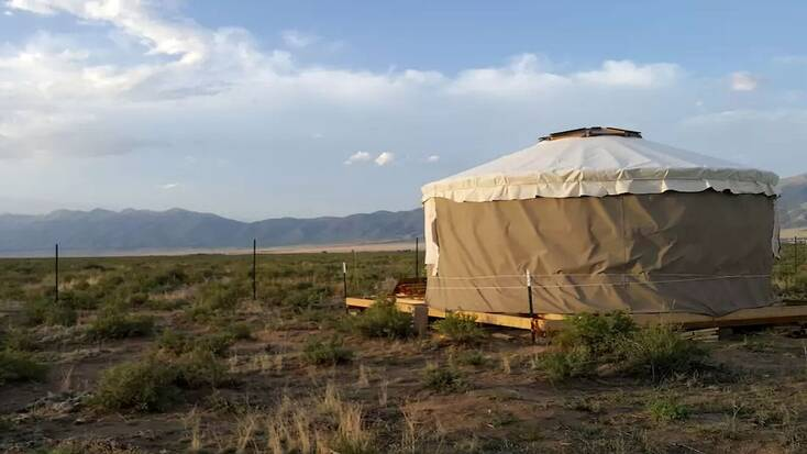 A yurt rental in Colorado with great campsite reviews