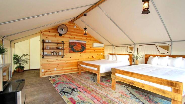 A safari tent in Zion National Park with great campsite reviews