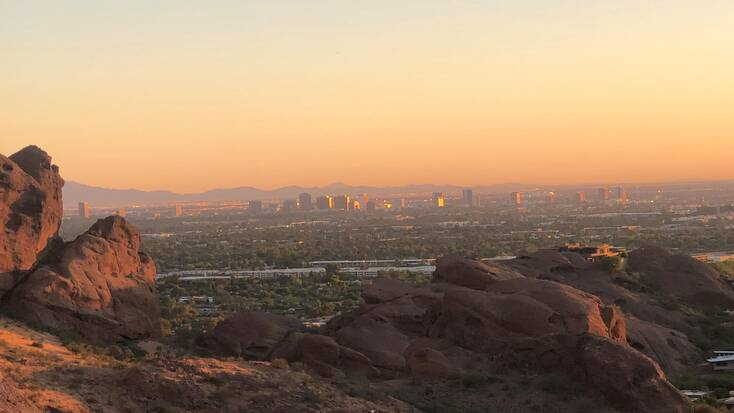 A view of Phoenix at sunset