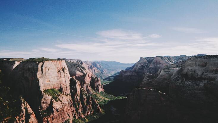 A canyon in Zion National Park