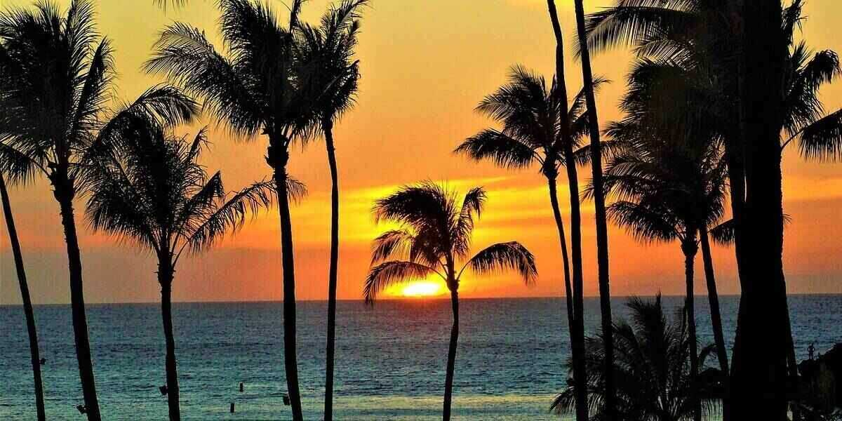 Sunset over one of the best places for luxury vacations
