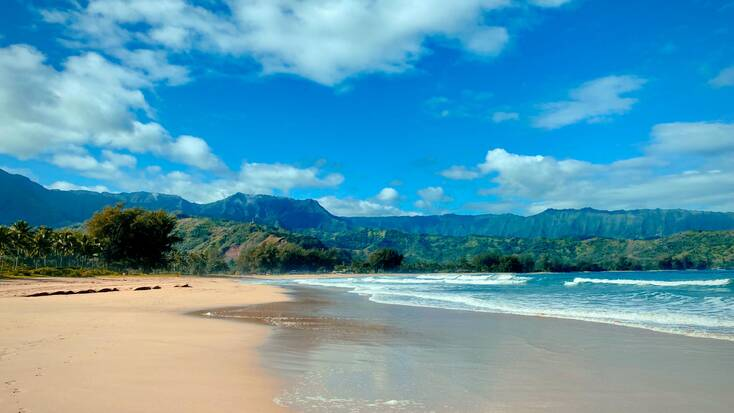 Hanalei Bay, one of the best beaches in Hawaii
