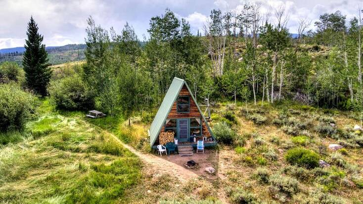 One of our unique mountain cabin rentals