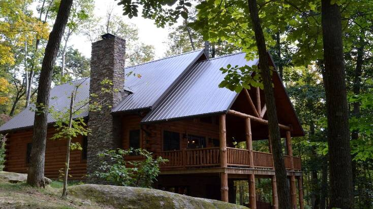 One of our Salt Fork cabins hidden in the woods