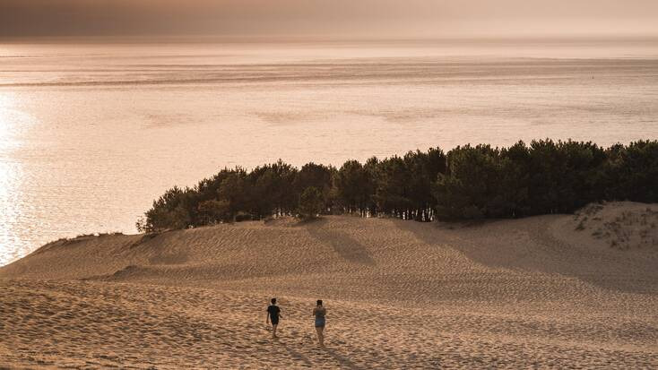 A couple exploring secluded beaches