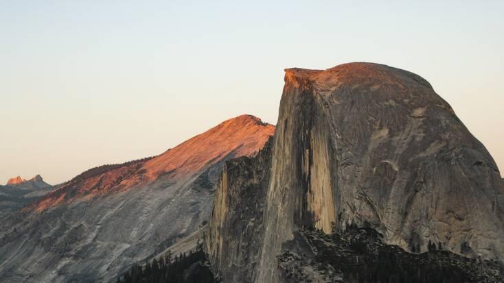 The half dome in Yosemite