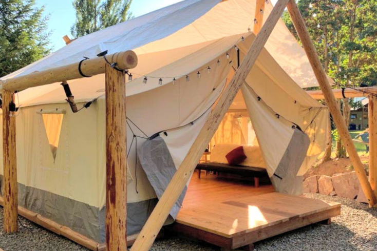 Safari Tent in Oregon owned by Host of the Month, Dustin for Earth Day 2021