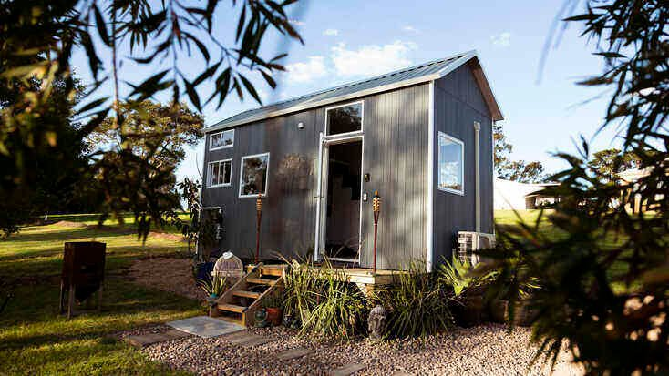 Australian tiny house rental for a glamping getaway.