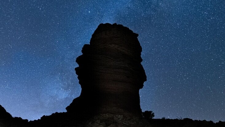 Stars above the Teide National Park in Tenerife, the perfect spot for stargazing