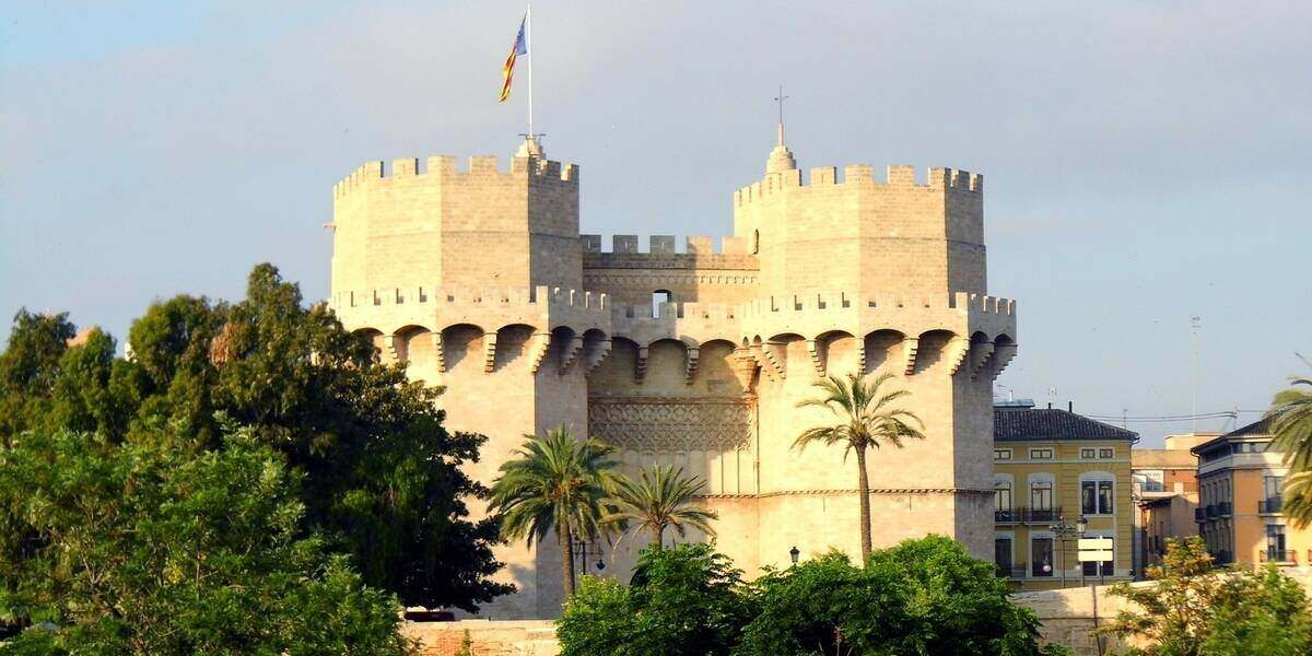 The medieval gate of the city of Valencia