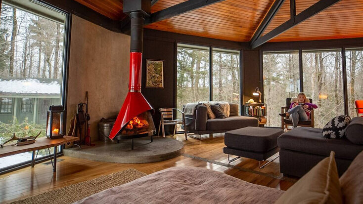 Spend your weekend getaways in Massachusetts in the comfort of this amazing living area.