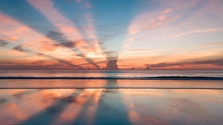 sunrise over Daytona Beach, Florida