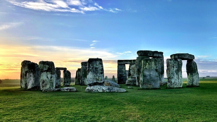 Sunrise over Stonehenge, Wiltshire, one of the best prehistoric outdoor museums