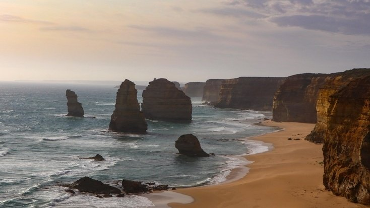 The 12 Apostles, Victoria, one of the stoppping points on the Great Ocean Road