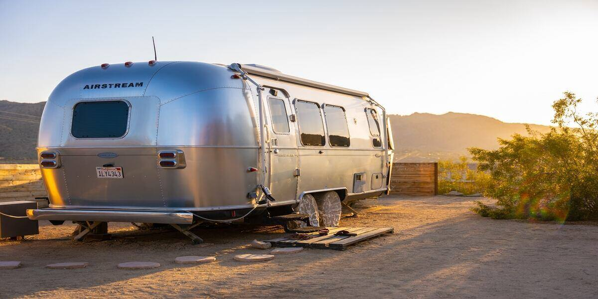 A luxury airstream rental at US campgrounds