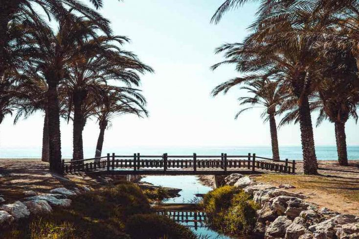 A view of one of the best beaches in Malaga. Vacation ideas here are plentiful