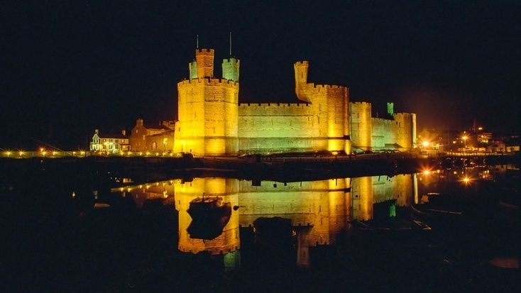 Caernarfon Castle, one of the best places to visit in Wales