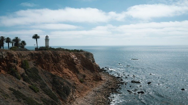 A lighthouse, one of the great coastal attractions